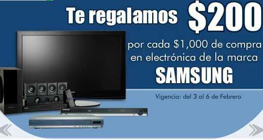 Comercial Mexicana: $200 de bonificación por cada $1,000 en electrónica Samsung