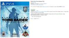Black Friday 2016 Amazon: Rise of the Tomb Raider PS4