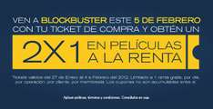 Blockbuster: 2x1 en rentas este domingo