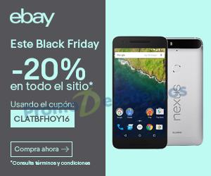 Black Friday 2016 en ebay: cupón de 20% de descuento