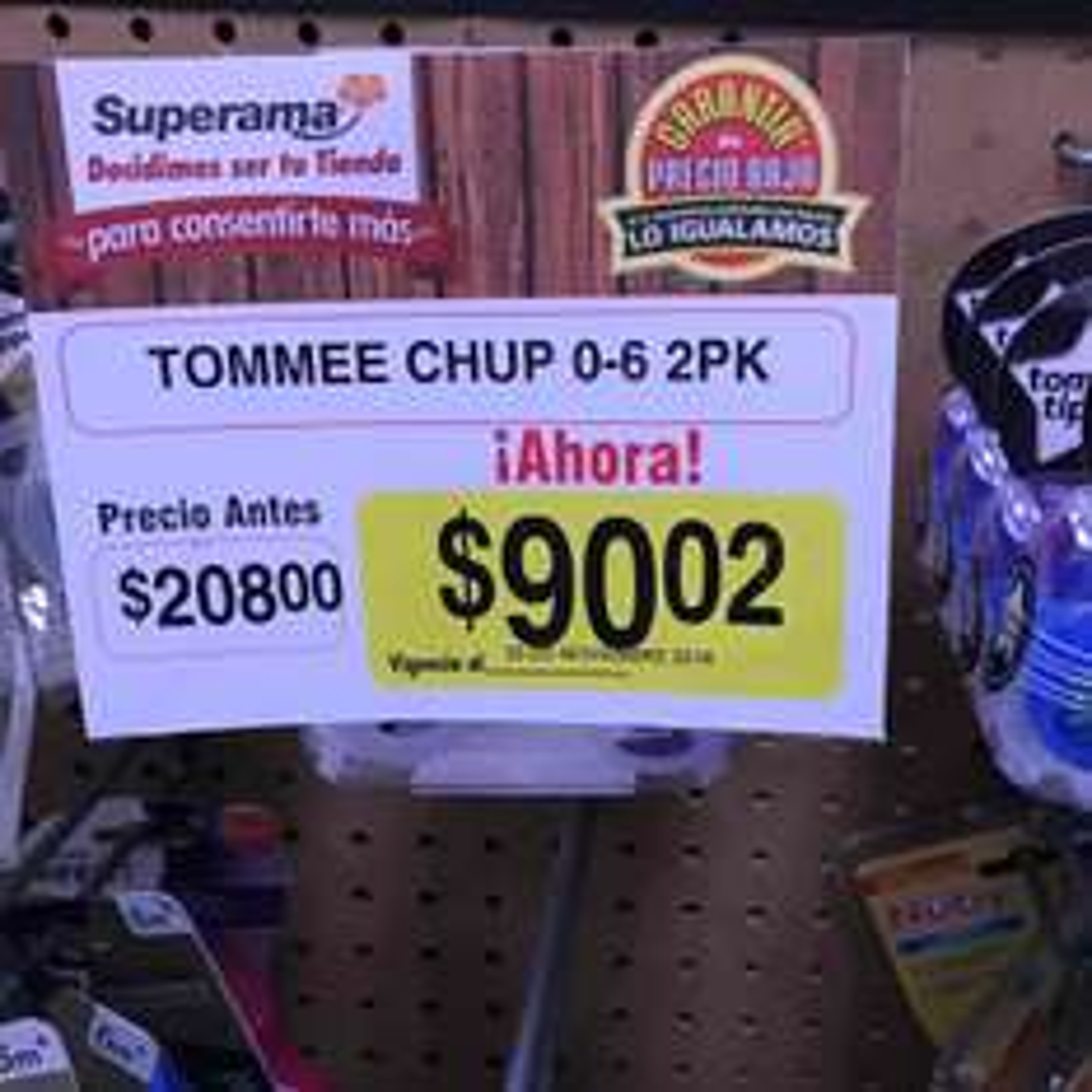 Superama: chupon a $90.02