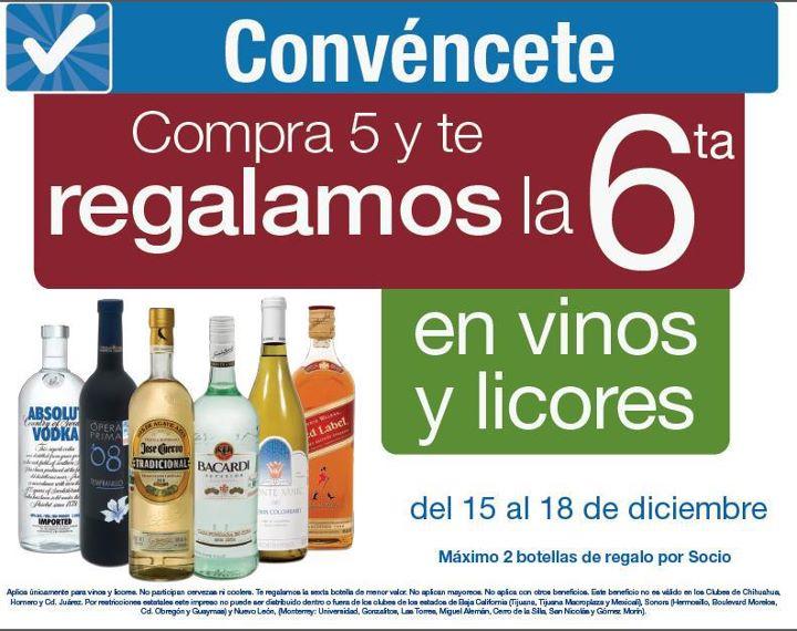 Sam's Club: 6x5 en vinos y licores