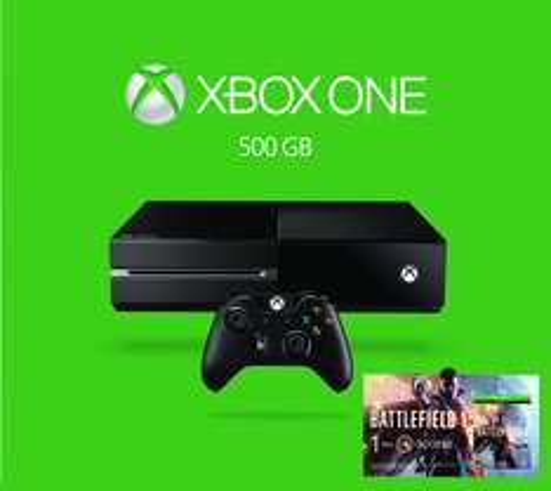 Black Friday Amazon: Consola Xbox One, 500 GB, color Negro + Juego Battlefield 1 ($4,499 con Bancomer)