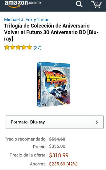 Black Friday 2016 Amazon: Trilogía Volver al Futuro Edición Blu ray 30 Aniversario