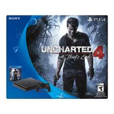 Black Friday 2016 Amazon MX: Consola PlayStation 4 Slim, 500GB + Uncharted 4 ($4,607 con Bancomer)