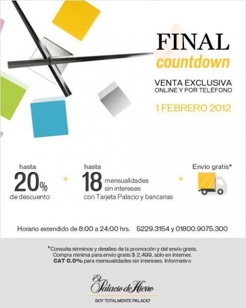 Palacio de Hierro: hasta 20% de descuento y hasta 18 MSI + envío gratis (online y por teléfono)