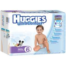 Black Friday 2016 Amazon: Huggies Ultraconfort Etapa 6 Niño 52% de descuento