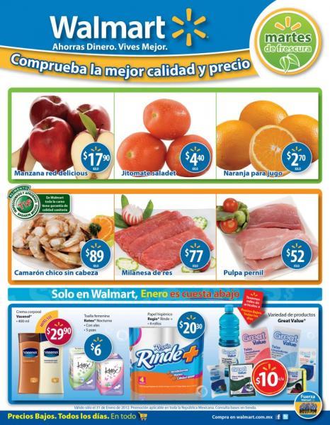 Martes de Frescura en Walmart enero 31: jitomate $4.40 Kg, naranja $2.70 Kg y más