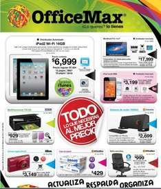 Folleto OfficeMax febrero: sistema de audio Panasonic gratis al comprar laptop Toshiba, 3x2 en Post-It y más