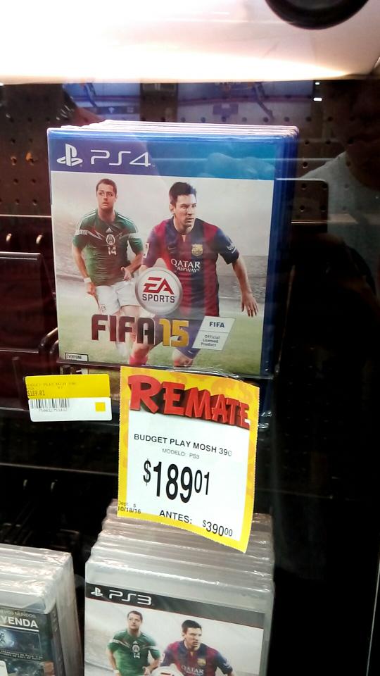 Bodega Aurrerá: Fifa 15 para PS4 a $189.01