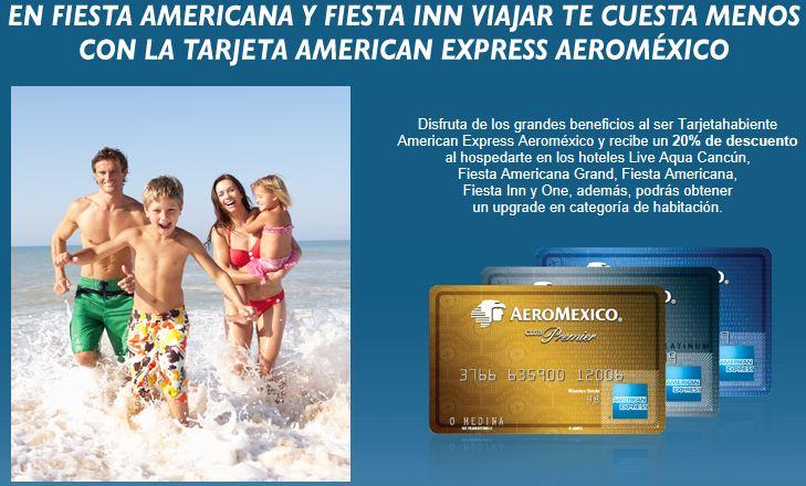 Fiesta Americana: 20% de descuento y ascenso pagando con American Express Aeroméxico