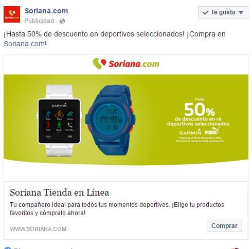 Soriana: hasta 50% de descuento en deportivos seleccionados