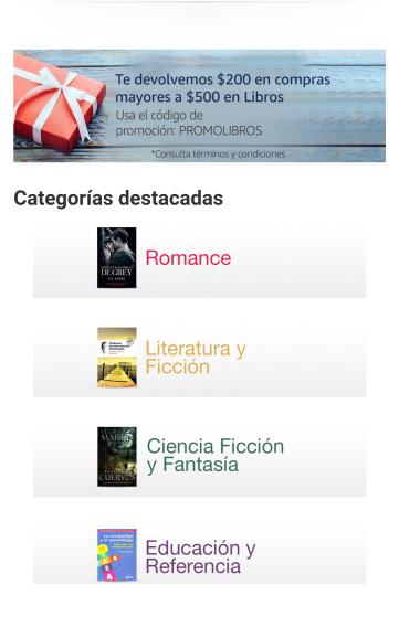 Amazon: $200 de descuento en libros (mín $500)