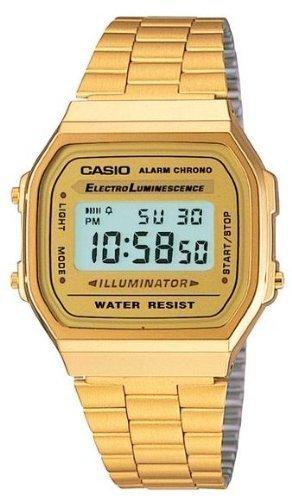 Amazon: Casio A168WG-9VT Reloj Unisex Cuadrado, Digital