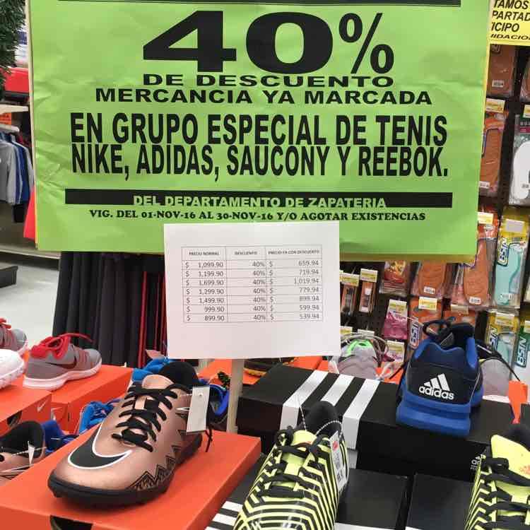 Tienda GranD Tamaulipas: 40% Tenis y Tachones