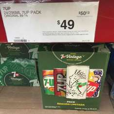 Sam's Club: Caja con 24 latas de 7UP Retro