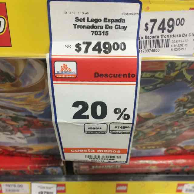 Chedraui: Lego 20% de descuento en algunos modelos