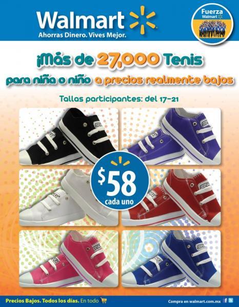 Walmart: tenis para niños a $58