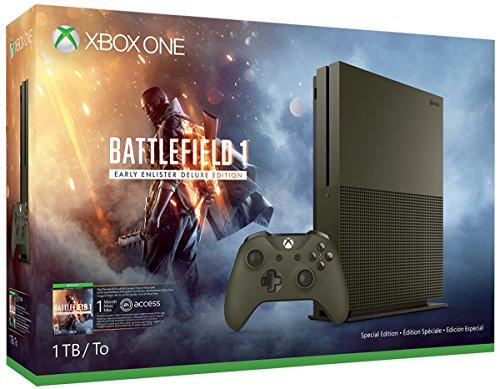 Black Friday en Amazon EU: Consola Xbox One S Battlefield 1 Bundle 1TB (NO envía a México)