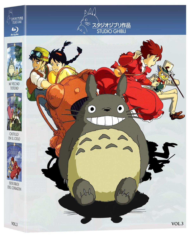 Amazon: Blurays Clásicos Animación Japonesa, Paquete Studio Ghibli. Volumen 3 (Mi Vecino Totoro / Castillo en el Cielo / Susurros del Corazón) [Blu-ray]