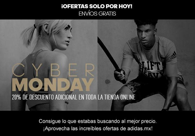 Cyber Monday llegó a adidas.mx Obtén 20% de descuento adicional en toda la tienda