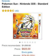 Cyber Monday 2016 Amazon: Pokemon Sun y Moon 3DS
