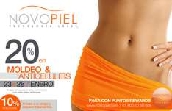 Novopiel: 20% de descuento en moldeo, anticelulitis y más