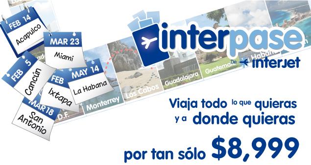 Interjet: 1 mes de vuelos ilimitados a $8,999