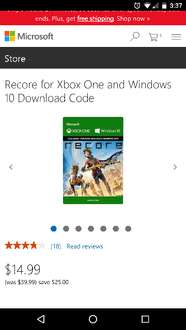 Cyber Monday 2016 Microsoft Store: Recore Xbox One digital $14.99 dlls ($315 mxn Aprox)