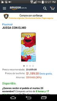 Cyber Monday en Amazon: Juega con Elmo a $1,189