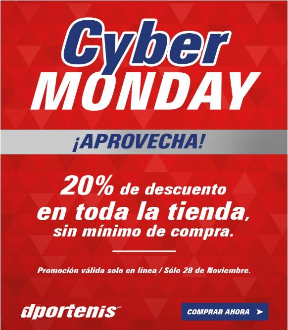Cybermonday Dportenis: 20% de descuento en toda la tienda