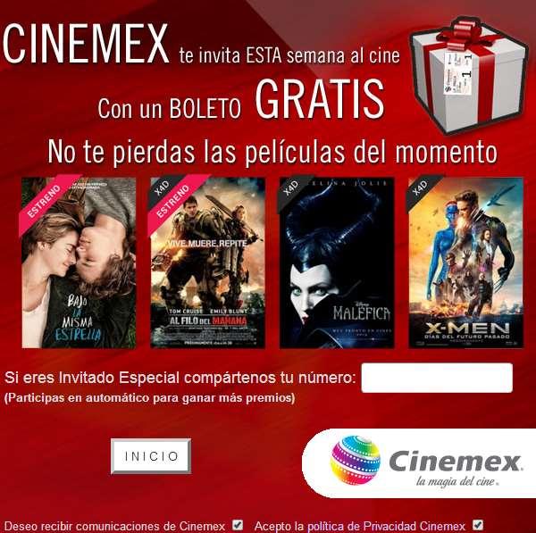 Cinemex: boleto gratis sin necesidad de compra (se necesita FB)
