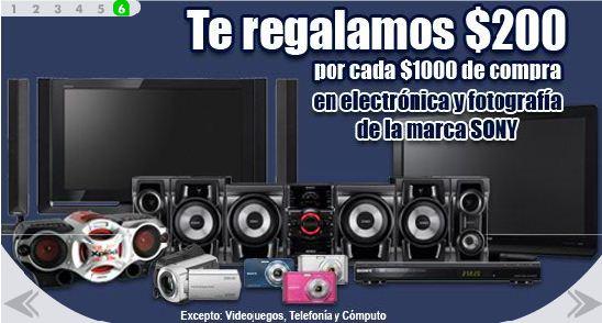 Comercial Mexicana: $200 de bonifcación por cada $1,000 en electrónica y fotografía Sony