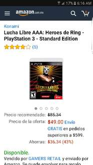 Amazon: Lucha Libre AAA Heroes de Ring - PlayStation 3 - Standard Edition