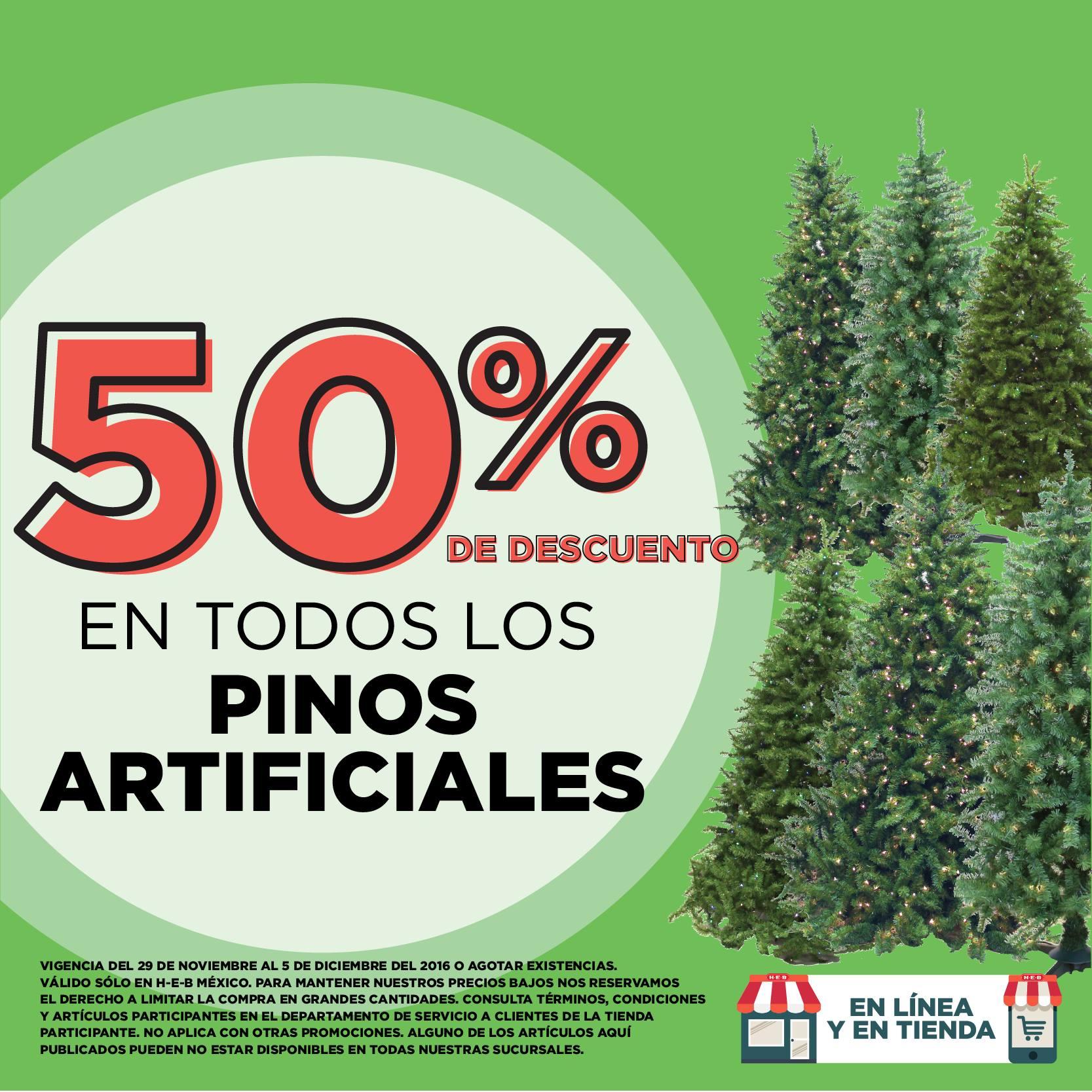 HEB: 50% en Pinos Artificiales