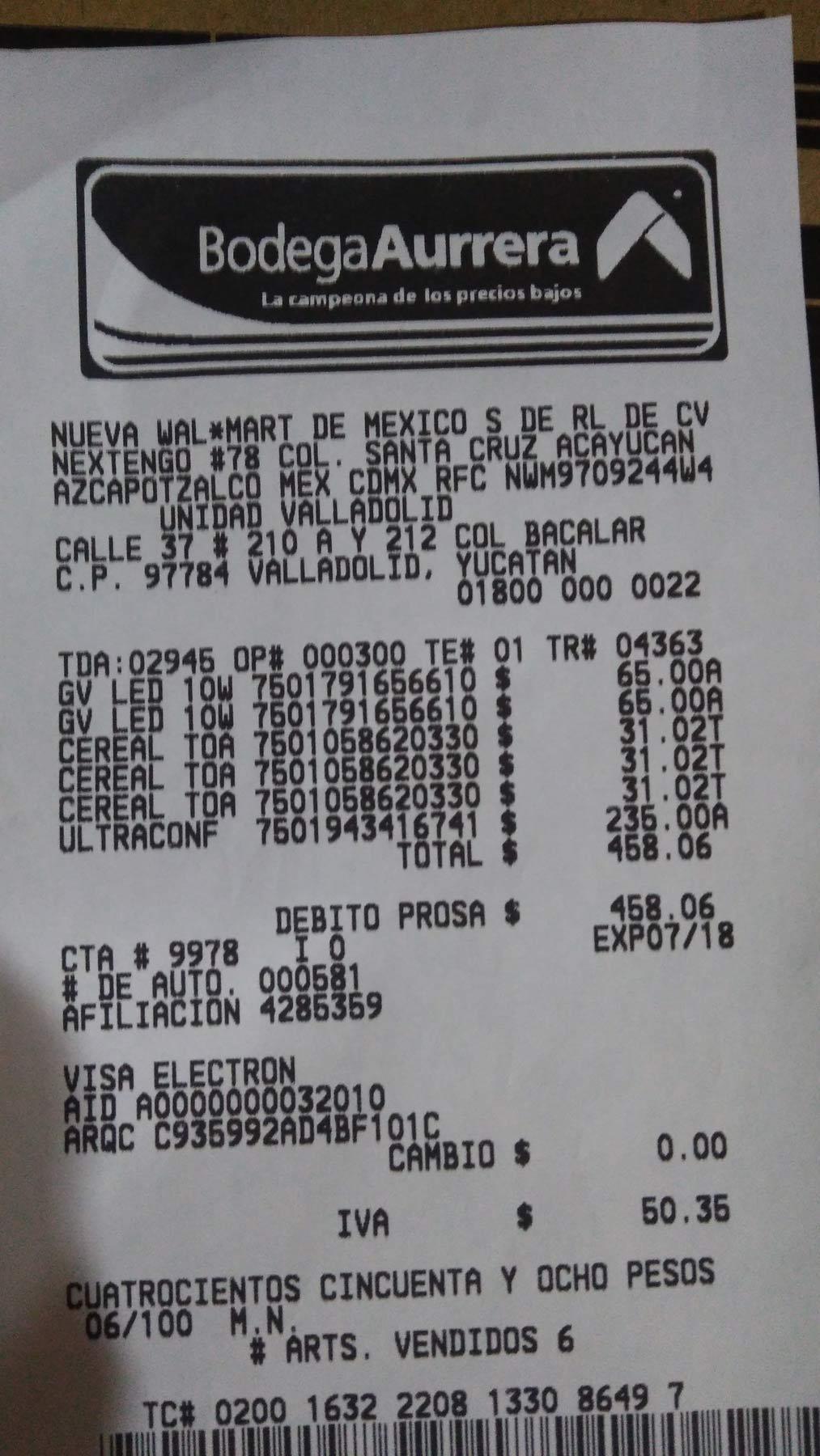 Bodega Aurrerá Valladolid: Kit cereal + toallitas