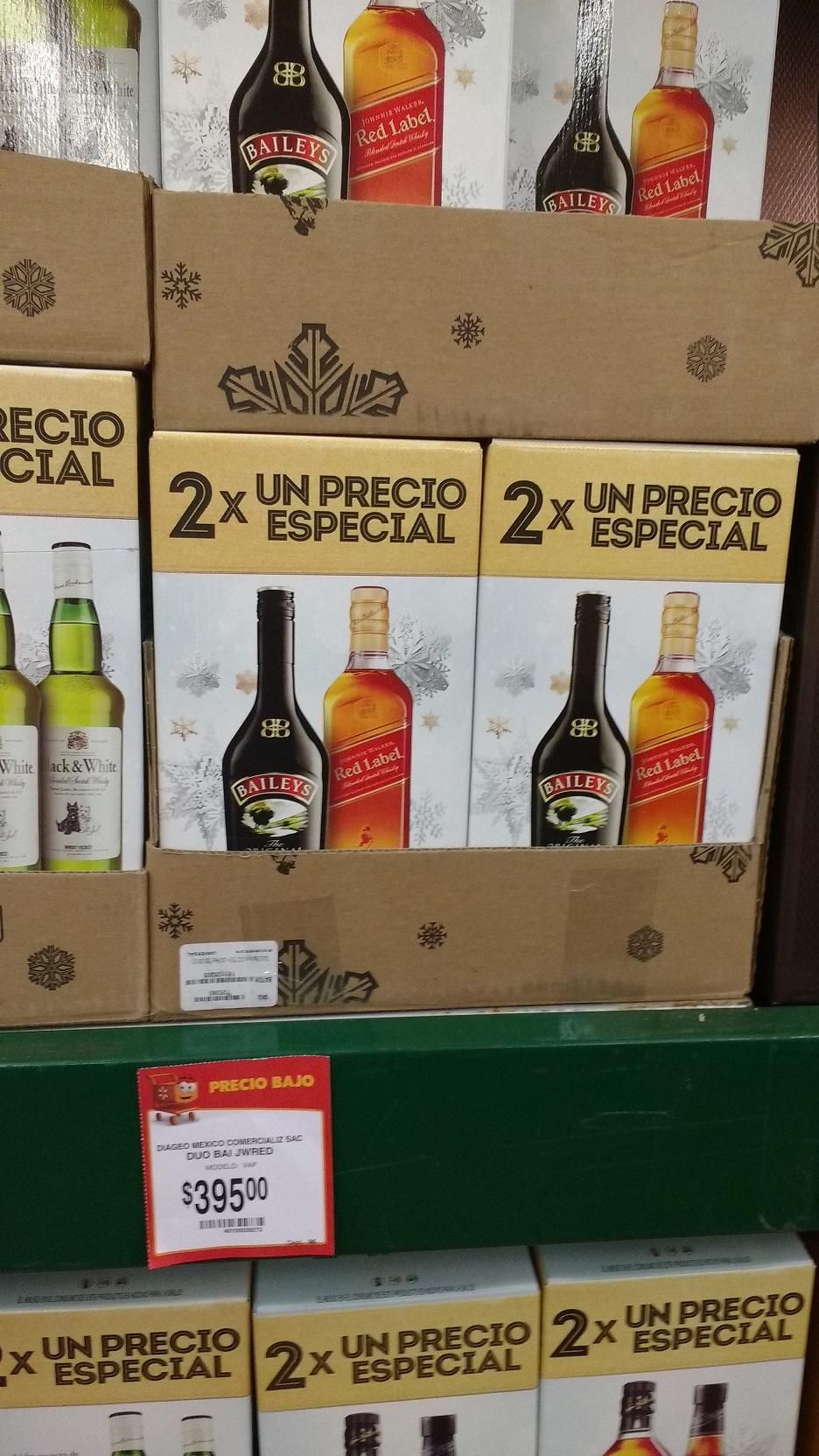 Walmart: combo de Etiqueta Roja y Baileys a $395