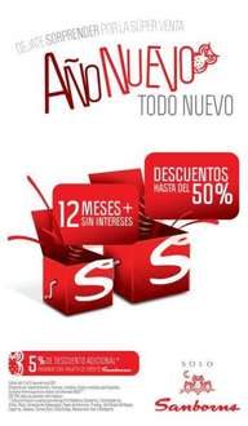 Sanborns: 12 MSI y hasta 50% de descuento en tienda