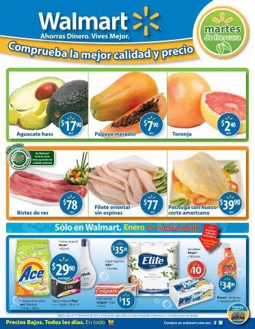 Martes de frescura Walmart enero 17: toronja $2.40, papaya $7.90 y más