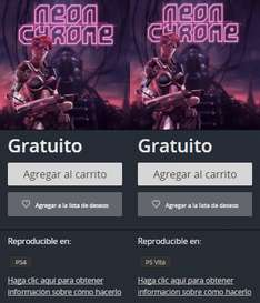 PlayStation Store: Neon Chrome Gratis