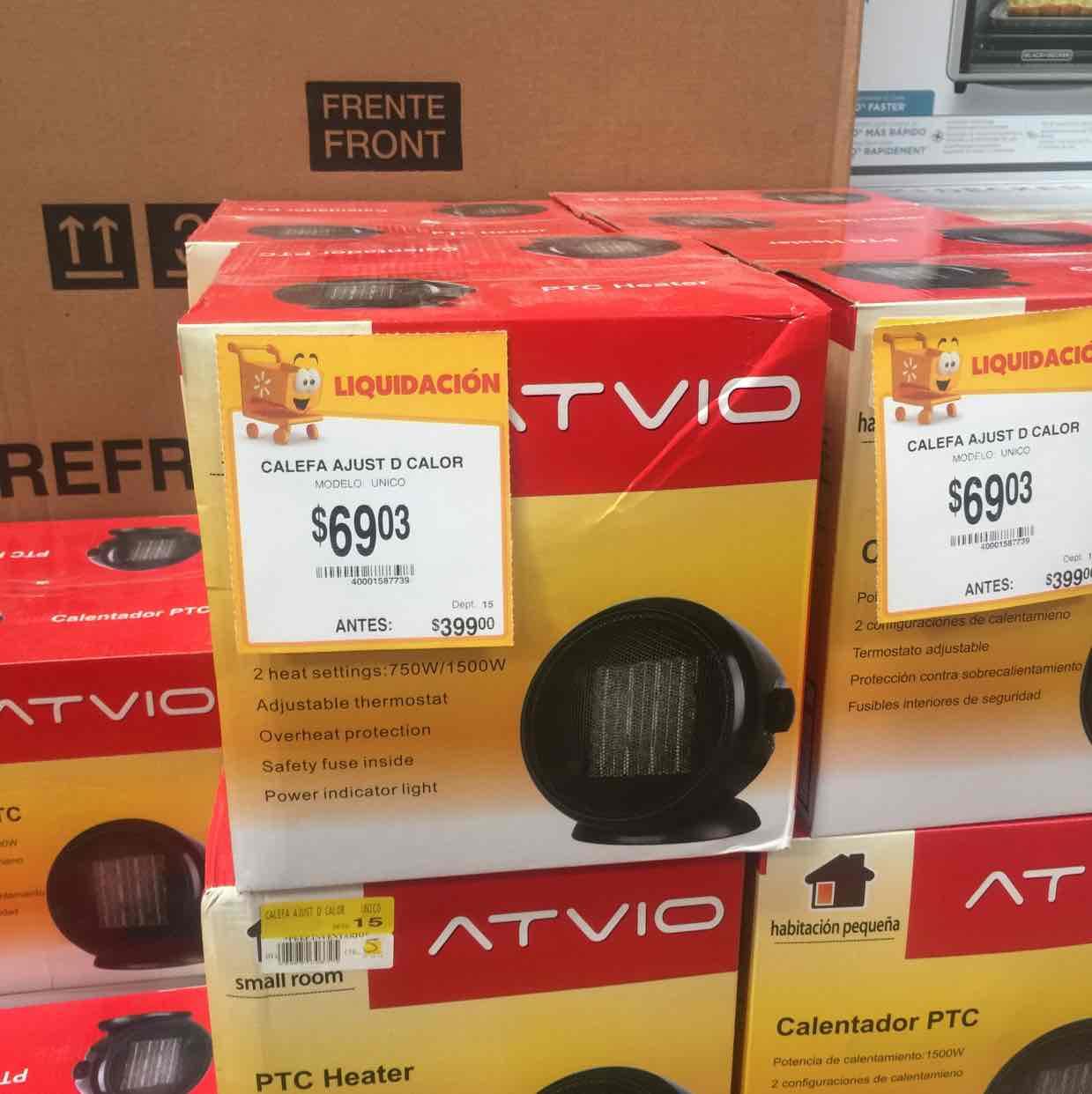 Walmart: calefactor Atvio a $69.03
