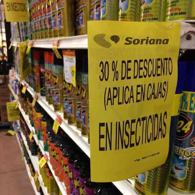 Mercado Soriana Comalcalco Todos los insecticidas con 30% de descuento!