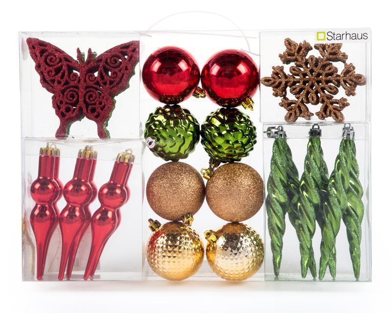 COPPEL: Desc en kit figuras navideñas multicolor 40pzs