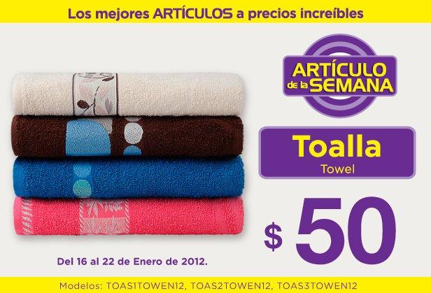 Artículo de la semana Suburbia: toallas a $50