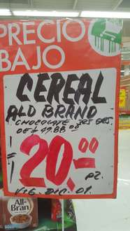 Comercial Mexicana: cereal all bran a $20