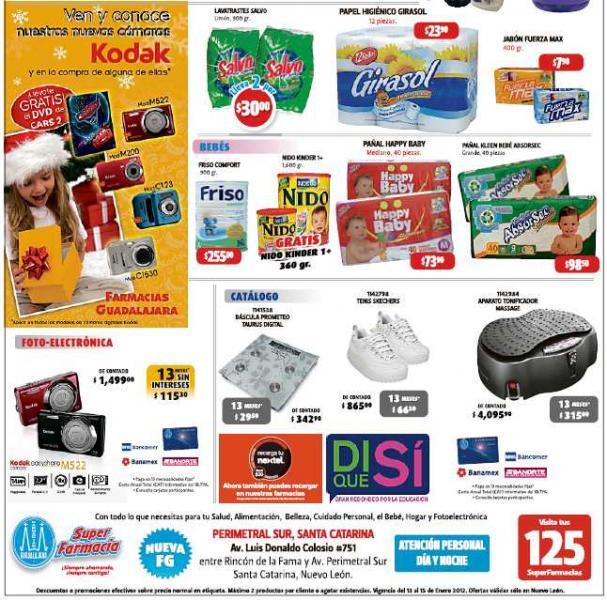 Farmacias Guadalajara: 2x1 en cremas Hydra Natura, DVD Cars 2 gratis con cámara y más