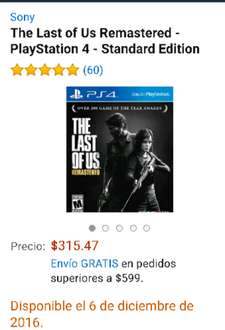 Amazon: The Last Of Us para PS4 a $315