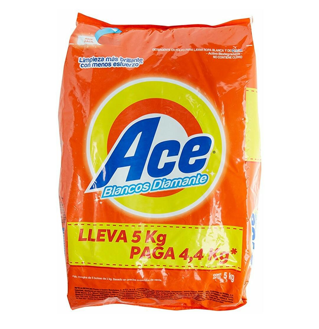 Amazon: Ace Detergente en Polvo Aroma Regular, 5 kg