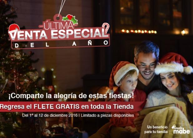 Tienda Mabe en línea: Envío GRATIS en toda la tienda del 1º al 12 de diciembre