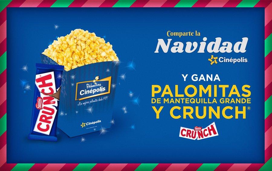 Navidad Cinepolis: día 1 palomitas de mantequilla grande y crunch